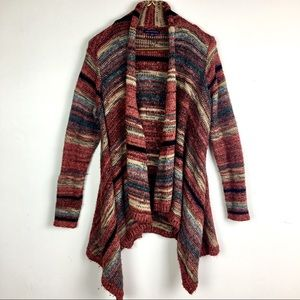 American Eagle Space Dyed stripes Open Cardigan
